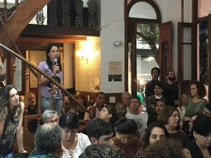 Participação de conselheiros da EBC cassados durante o debate. Foto: Casa Pública