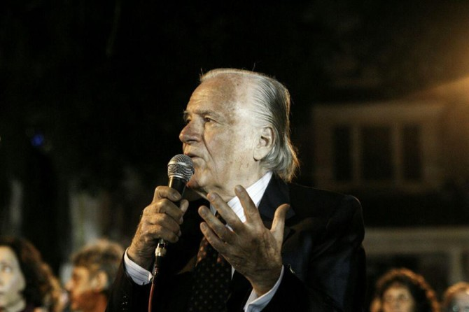 Demetrio Carta, conhecido como Mino Carta, de 83 anos, é um jornalista, editor, escritor e pintor italiano, naturalizado brasileiro. Foto: Mídia NINJA