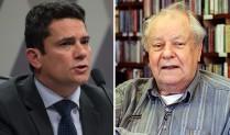 Sergio Moro e o professor Cerqueira Leite. Foto: Brasil 247.