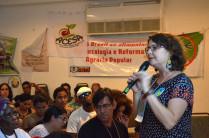 """""""A juventude organizada é fundamental"""", afirma Elisa durante a entrevista. / Amanda Sampaio"""