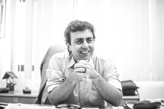 Deputado Estadual Marcelo Freixo (PSOL) no seu gabinete na Assembleia Legislativa do Rio de Janeiro (Alerj). Foto: Marcelo Santos Braga.