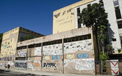 Pichação próxima a rodoviária Novo Rio. Foto: Byron Prujansky