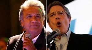 Lenín Moreno e Guillermo Lasso em campanha para o segundo turno em 2 de abril (Foto: Internet).