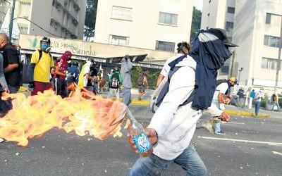 A incitação à violência é um dos eixos da política promovida pela oposição (Foto: Internet)